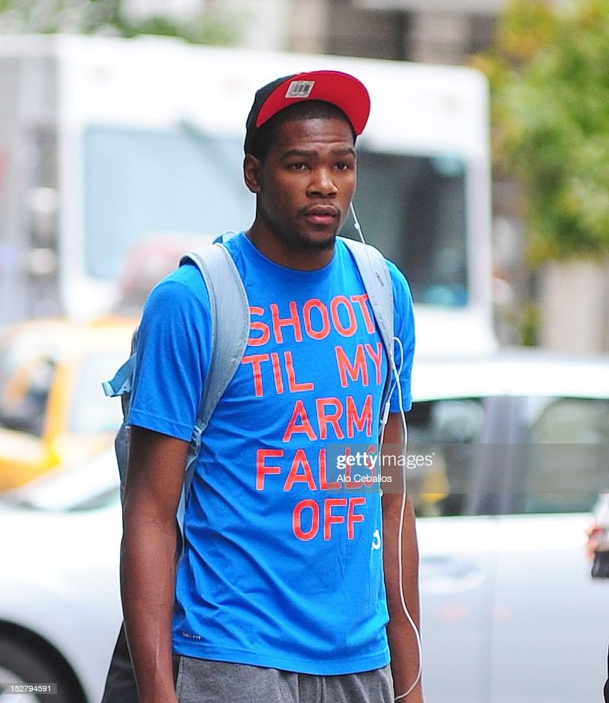 Kevin Durant sighting at Streets of Manhattan on September 26, 2012 in New York City.
