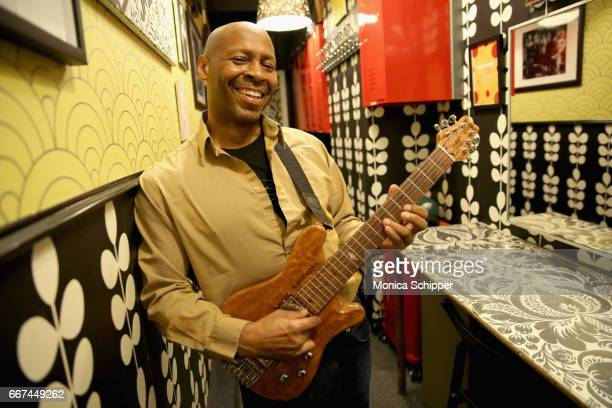 Kevin Eubanks attends Kevin Eubanks' 'East West Time Line' album release party at Birdland Jazz Club on April 11 2017 in New York City