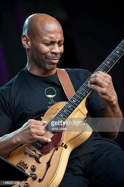 Kevin Eubanks of Prism performs on stage during Vijazz Festival at Placa Jaume I on July 8 2012 in Vilafranca del Penedes Spain