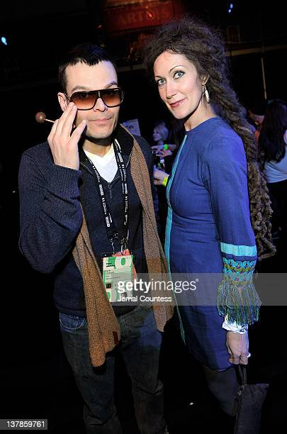 Kevin Faircourt and Elizabeth Greenway attend the Awards Night Ceremony Reception during the 2012 Sundance Film Festival at the Basin Recreation...