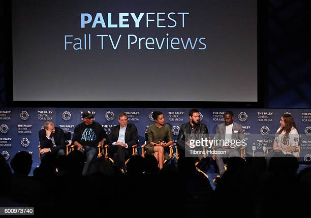 Kevin Falls Paris Barclay Rick Singer Kylie Bunbury MarkPaul Gosselaar and Mo McRae attend The Paley Center for Media's PaleyFest 2016 fall TV...