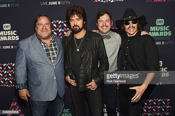 Kevin Farley Billy Ray Cyrus Travis Nicholson and Potsy Ponciroli attend the 2016 CMT Music awards at the Bridgestone Arena on June 8 2016 in...