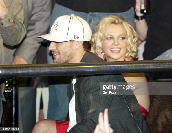 Kevin Federline and Britney Spears during Belated Birthday Party for Kevin Federline with Britney Spears Hosted by Scooter Braun Inside at Vision...