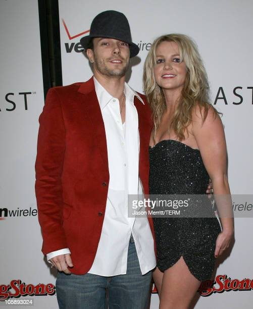 Kevin Federline and Britney Spears during Rolling Stone/Verizon Wireless PreGRAMMY Concert with Kanye West Arrivals at Spider at Avalon in Los...