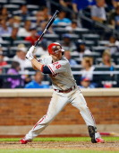 Kevin Frandsen of the Philadelphia Phillies in action against the New York Mets at Citi Field on August 27 2013 in the Flushing neighborhood of the...