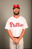 Kevin Frandsen of the Philadelphia Phillies poses during Photo Day on Wednesday February 19 2014 at Bright House Field in Clearwater Florida