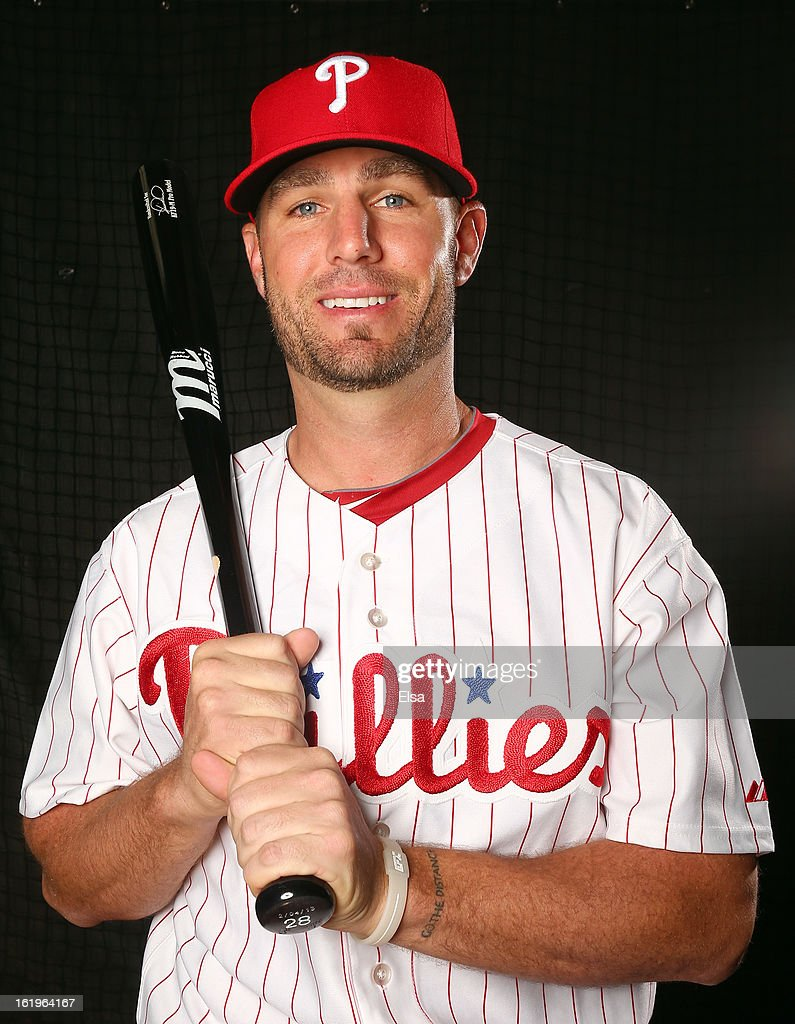 <a gi-track='captionPersonalityLinkClicked' href=/galleries/search?phrase=Kevin+Frandsen&family=editorial&specificpeople=3982842 ng-click='$event.stopPropagation()'>Kevin Frandsen</a> #28 of the Philadelphia Phillies poses for a portrait on February 18, 2013 at Bright House Field in Clearwater, Florida.