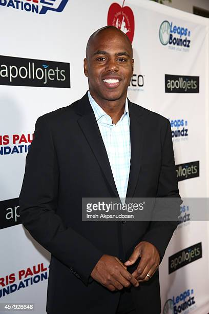Kevin Frazier arrives for The CP3 Foundation's Celebrity Server Dinner presented by Apollo Jets at Mastro's Steakhouse on October 26 2014 in Beverly...