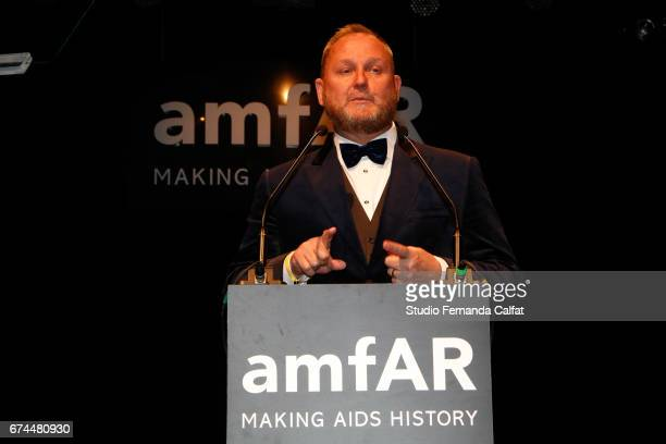 Kevin Frost attends the 7th Annual amfAR Inspiration Gala on April 27 2017 in Sao Paulo Brazil
