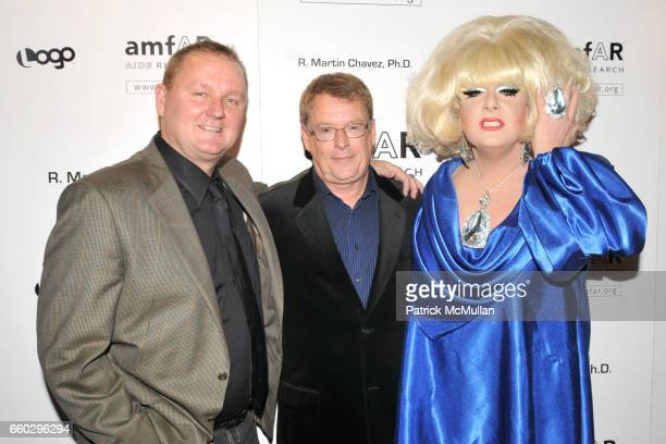 Kevin Frost Cleve Jones and Lady Bunny attend AMFAR's Tenth Annual HONORING WITH PRIDE Celebration Hosted by ALAN CUMMING at Edison Ballroom on June...