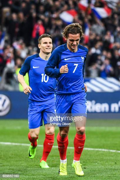 Kevin Gameiro and Antoine Griezmann of France during the friendly match France and Spain at Stade de France on March 28 2017 in Paris France