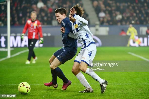 Kevin GAMEIRO / Fethi HAREK Paris Saint Germain / Bastia 24e journee Ligue 1 Photo Dave Winter / Icon Sport