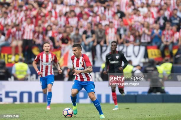 Kevin Gameiro of Atletico de Madrid in action during the La Liga match between Atletico de Madrid and Athletic de Bilbao at the Estadio Vicente...
