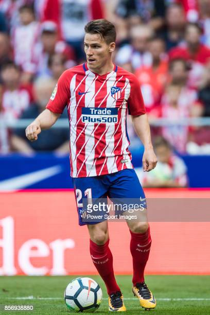 Kevin Gameiro of Atletico de Madrid in action during the La Liga 201718 match between Atletico de Madrid and Sevilla FC at the Wanda Metropolitano on...