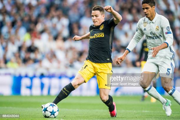 Kevin Gameiro of Atletico de Madrid in action during their 201617 UEFA Champions League Semifinals 1st leg match between Real Madrid and Atletico de...