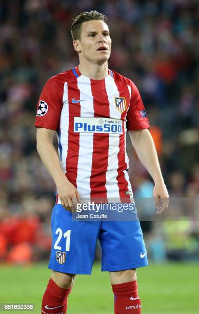 Kevin Gameiro of Atletico Madrid during the UEFA Champions League Semi Final second leg match between Club Atletico de Madrid and Real Madrid CF at...