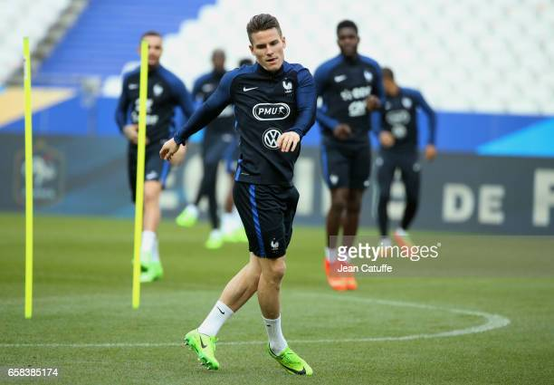 Kevin Gameiro of France during the training session on the eve of the international friendly match between France and Spain at Stade de France on...