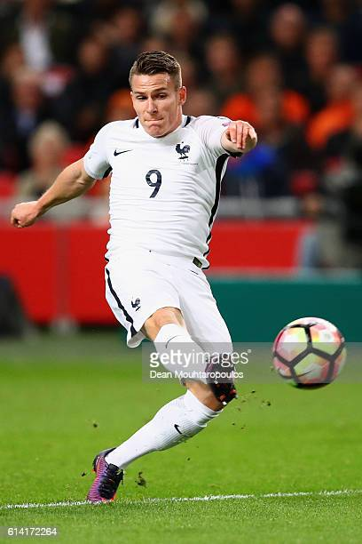 Kevin Gameiro of France in action during the FIFA 2018 World Cup Qualifier between Netherlands and France held at Amsterdam Arena on October 10 2016...