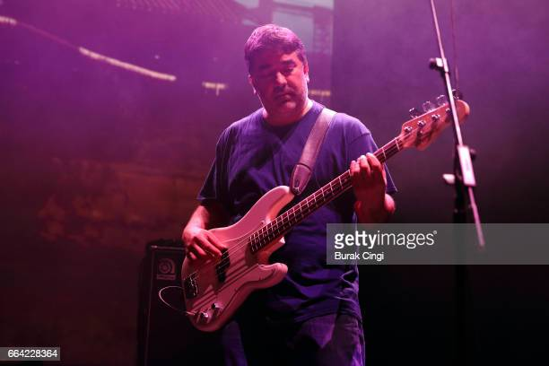 Kevin Garcia of Grandaddy performs at the Roundhouse on April 3 2017 in London United Kingdom