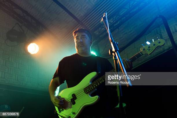 Kevin Garcia of Grandaddy performs on stage at Potterrow on March 23 2017 in Edinburgh United Kingdom