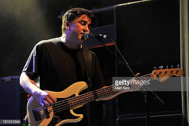 Kevin Garcia of Grandaddy performs on stage at Shepherds Bush Empire on September 4 2012 in London United Kingdom