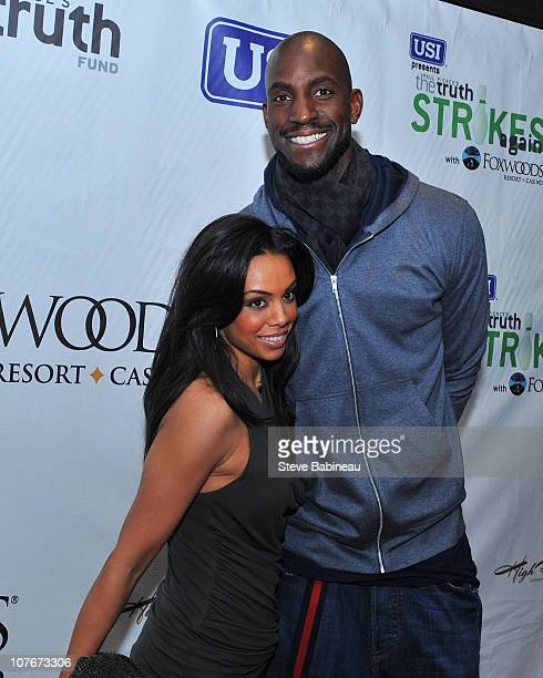 Kevin Garnett of the Boston Celtics and his wife attend USI presents 'The Truth Strikes Again' with Foxwoods Resort Casino a celebrity bowling...
