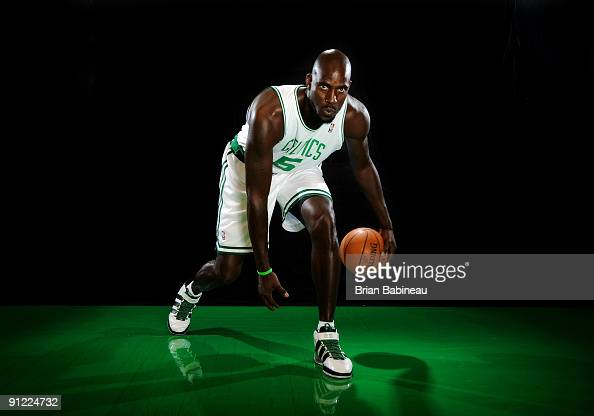 Kevin Garnett of the Boston Celtics poses for a portrait during the 2009 NBA Media Day on September 28 2009 at Healthpoint in Waltham Massachusetts...