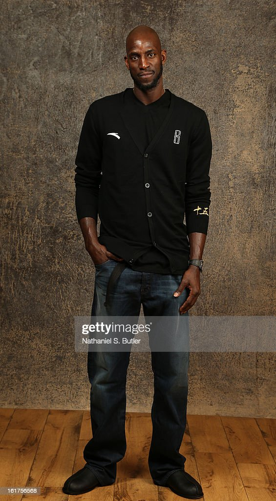 Kevin Garnett of the Boston Celtics poses for portraits during the NBAE Circuit as part of 2013 All-Star Weekend at the Hilton Americas Hotel on February 15, 2013 in Houston, Texas.