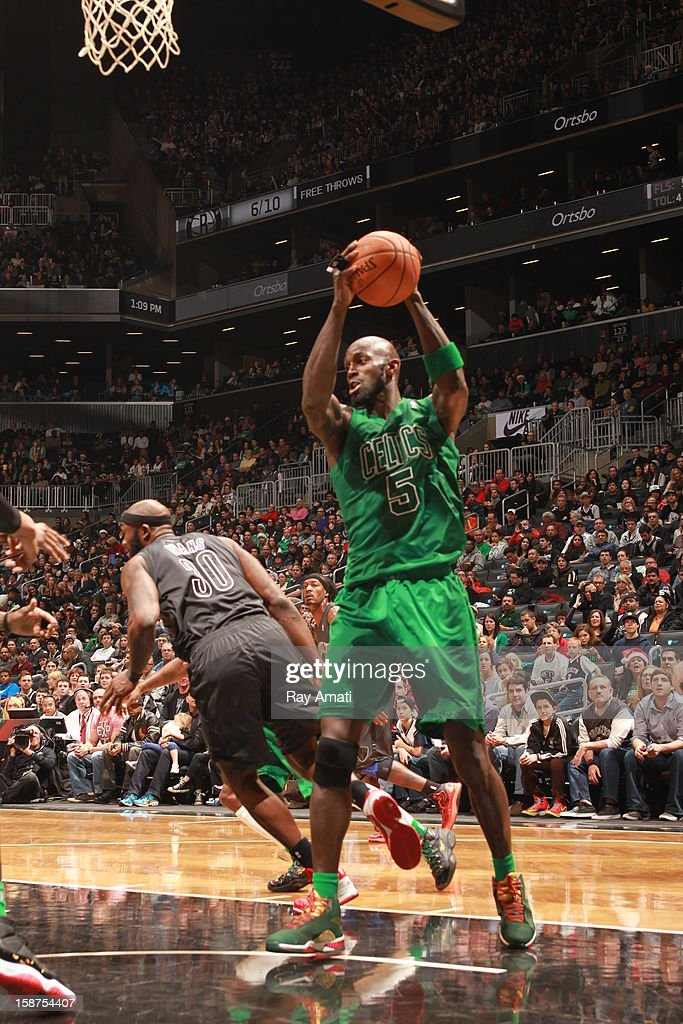 <a gi-track='captionPersonalityLinkClicked' href=/galleries/search?phrase=Kevin+Garnett&family=editorial&specificpeople=201473 ng-click='$event.stopPropagation()'>Kevin Garnett</a> #5 of the Boston Celtics rebounds against the Brooklyn Nets on December 25, 2012 at the Barclays Center in Brooklyn, New York.