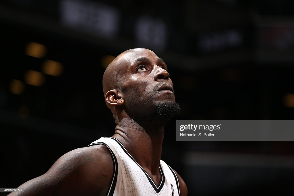 <a gi-track='captionPersonalityLinkClicked' href=/galleries/search?phrase=Kevin+Garnett&family=editorial&specificpeople=201473 ng-click='$event.stopPropagation()'>Kevin Garnett</a> #30 of the Brooklyn Nets isolated during a game at Barclays Center in Brooklyn.