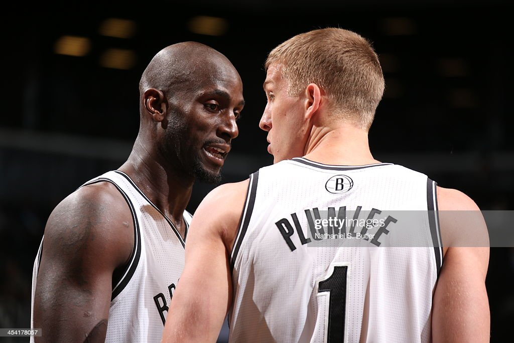 <a gi-track='captionPersonalityLinkClicked' href=/galleries/search?phrase=Kevin+Garnett&family=editorial&specificpeople=201473 ng-click='$event.stopPropagation()'>Kevin Garnett</a> #2 of the Brooklyn Nets looks on against the Utah Jazz during a game at Barclays Center on November 5, 2013 in the Brooklyn borough of New York City.