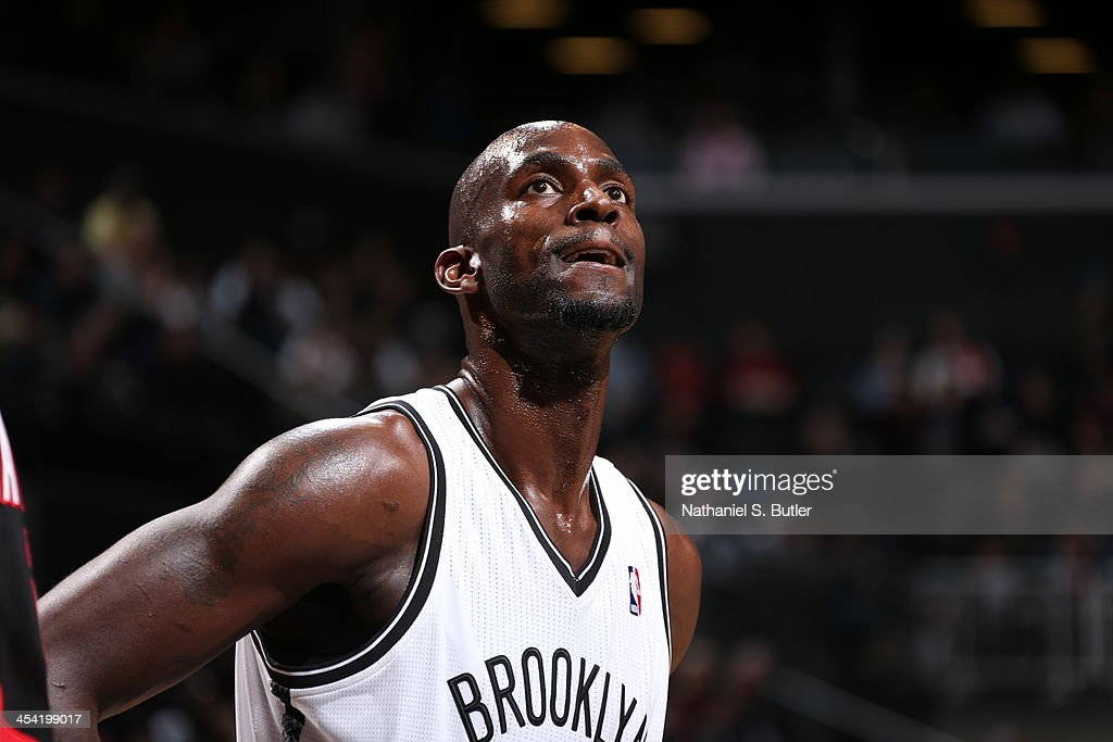<a gi-track='captionPersonalityLinkClicked' href=/galleries/search?phrase=Kevin+Garnett&family=editorial&specificpeople=201473 ng-click='$event.stopPropagation()'>Kevin Garnett</a> #2 of the Brooklyn Nets looks on during the game against the Portland Trail Blazers at Barclays Center on November 18, 2013 in the Brooklyn borough of New York City.