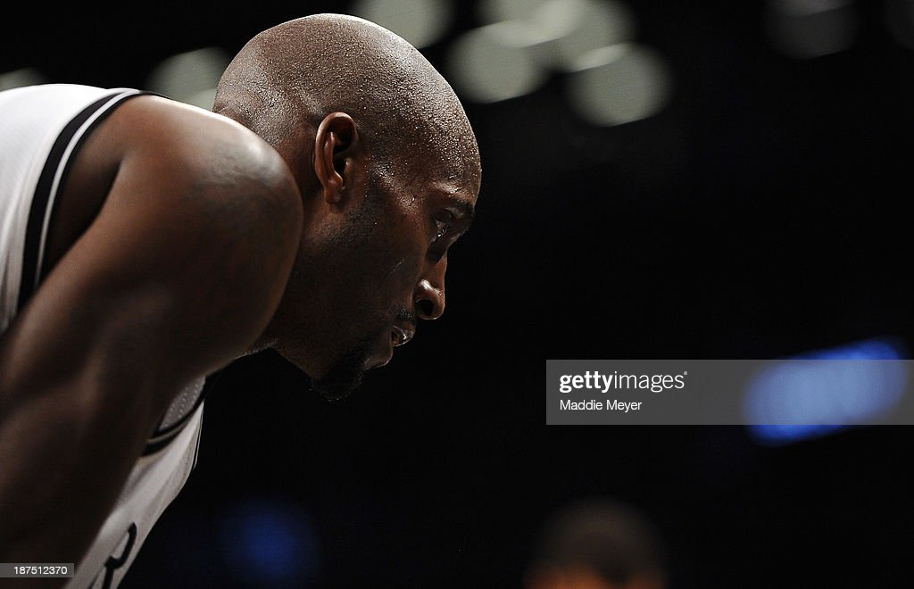 Kevin Garnett #2 of the Brooklyn Nets looks on during the second half against the Indiana Pacers at Barclays Center on November 9, 2013 in the Brooklyn borough of New York City. The Pacers defeat the Nets 96-91.