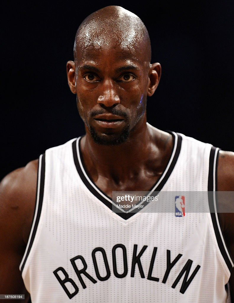 Kevin Garnett #2 of the Brooklyn Nets looks on during the second quarter against the Indiana Pacers at Barclays Center on November 9, 2013 in the Brooklyn borough of New York City.