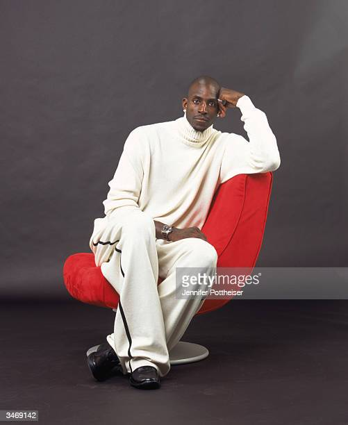 Kevin Garnett of the Minnesota Timberwolves poses for a portrait on December 1 2003 in Minneapolis Minnesota NOTE TO USER User expressly acknowledges...