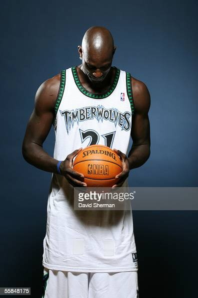 Kevin Garnett of the Minnesota Timberwolves poses for a portrait during Media Day October 3 2005 at the Target Center in Minneapolis Minnesota NOTICE...