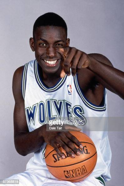 Kevin Garnett of the Minnesota Timberwolves poses for a portrait during media day on October 5 1995 in Minneapolis Minnesota NOTE TO USER User...