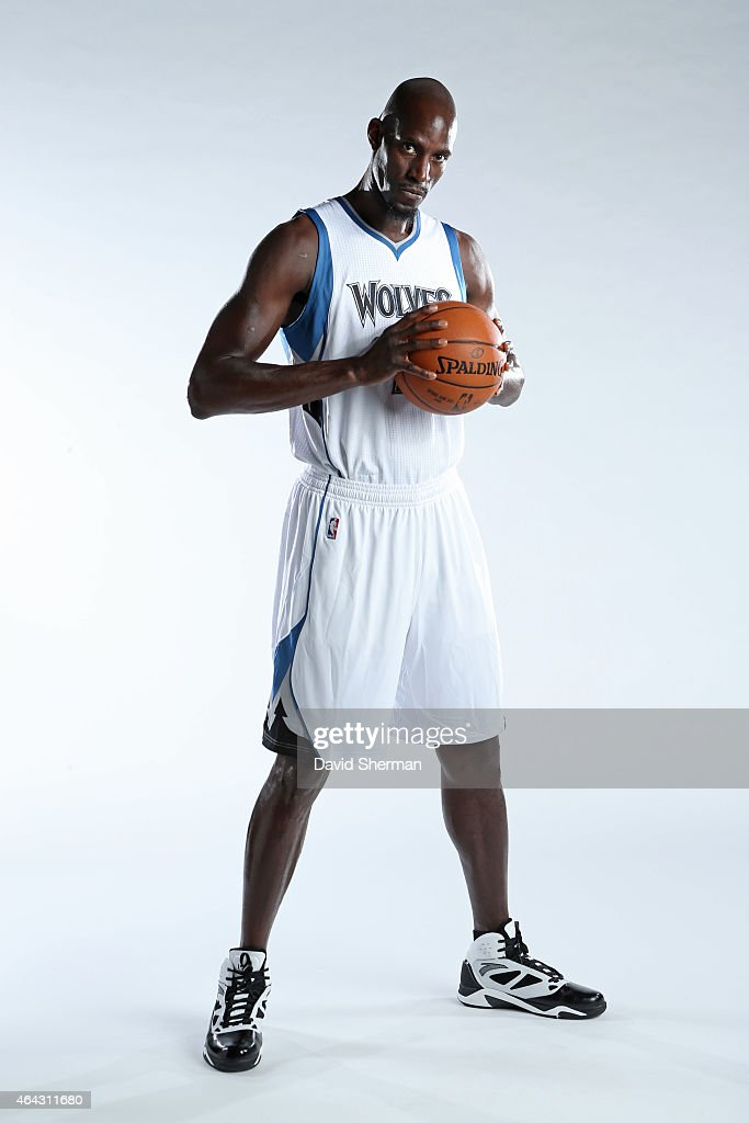 <a gi-track='captionPersonalityLinkClicked' href=/galleries/search?phrase=Kevin+Garnett&family=editorial&specificpeople=201473 ng-click='$event.stopPropagation()'>Kevin Garnett</a> #21 of the Minnesota Timberwolves poses for portraits on February 24, 2015 at Target Center in Minneapolis, Minnesota.