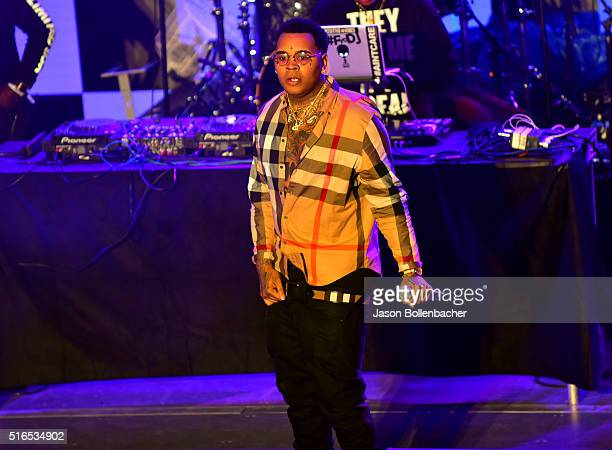 Kevin Gates performs onstage at Pandora Discovery Den during the 2016 SXSW Music Film Interactive Festival at The Gatsby on March 18 2016 in Austin...