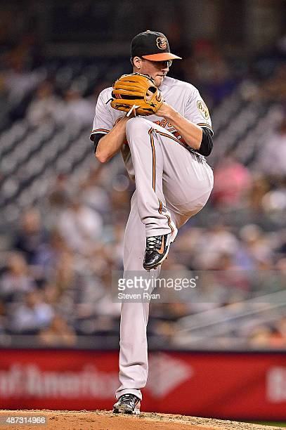 Kevin Gausman of the Baltimore Orioles delivers a pitch in the second inning against the New York Yankees at Yankee Stadium on September 8 2015 in...