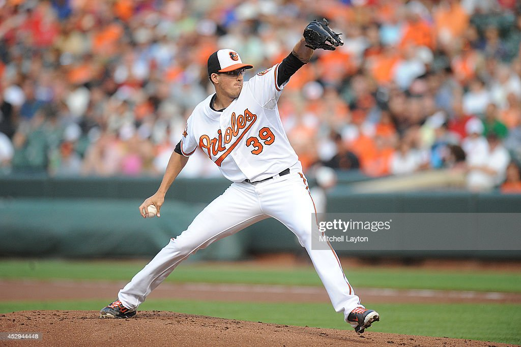 <a gi-track='captionPersonalityLinkClicked' href=/galleries/search?phrase=Kevin+Gausman&family=editorial&specificpeople=6129172 ng-click='$event.stopPropagation()'>Kevin Gausman</a> #39 of the Baltimore Orioles pitches in the first inning during a baseball game against the Los Angeles Angels of Anaheim on July 30, 2014 at Nationals Park in Baltimore, Maryland.