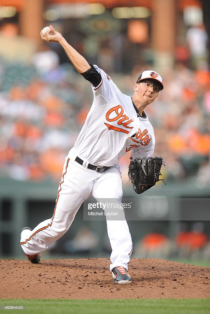 <a gi-track='captionPersonalityLinkClicked' href=/galleries/search?phrase=Kevin+Gausman&family=editorial&specificpeople=6129172 ng-click='$event.stopPropagation()'>Kevin Gausman</a> #39 of the Baltimore Orioles pitches in the second inning during a baseball game against the Los Angeles Angels of Anaheim on July 30, 2014 at Nationals Park in Baltimore, Maryland.