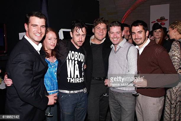 Kevin Gessay Lisa Raden Alan Cumming Greg Calejo Eddie Roche and Flint Beamon attend SONY CIERGE Holiday Preview Party at Cellar Bar on October 29...