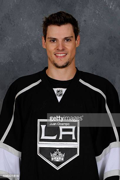 Kevin Gravel of the Los Angeles Kings poses for his official headshot for the 20142015 season on September 11 2014 at the Manhattan Beach Marriott in...