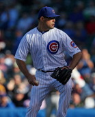 Kevin Gregg of the Chicago Cubs pitches for a save in the 9th inning against the Pittsburgh Pirates at Wrigley Field on September 25 2013 in Chicago...
