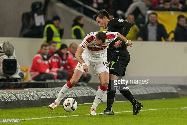 Kevin Großkreutz of Stuttgart and Edgar Prib of Hannover battle for the ball during the Second Bundesliga match between VfB Stuttgart and Hannover 96...