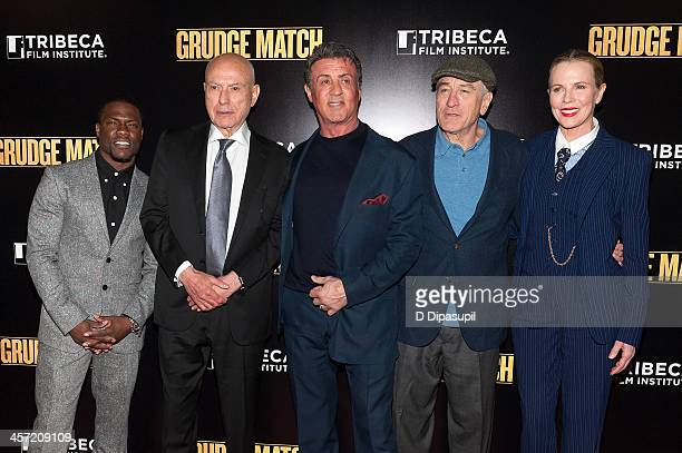 Kevin Hart Alan Arkin Sylvester Stallone Robert De Niro and Kim Basinger attend the 'Grudge Match' screening benefiting the Tribeca Film Insititute...