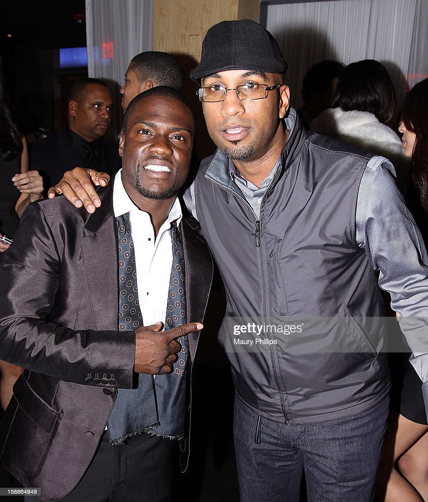 Kevin Hart and director <a gi-track='captionPersonalityLinkClicked' href=/galleries/search?phrase=Tim+Story&family=editorial&specificpeople=2211861 ng-click='$event.stopPropagation()'>Tim Story</a> attend a private dinner for Kevin Hart on December 31, 2012 in Los Angeles, California.
