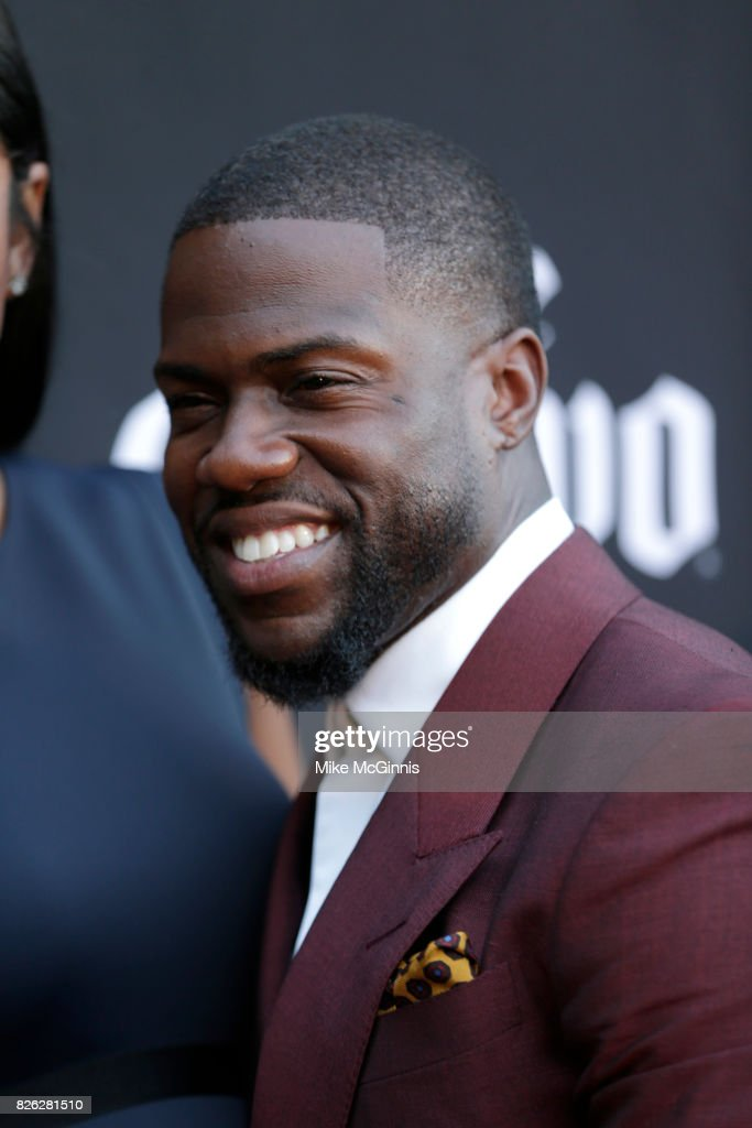 Kevin Hart and Eniko Parrish attends Launch Of Laugh Out Loud hosted by Kevin Hart And Jon Feltheimer on August 03, 2017 in Los Angeles, California.