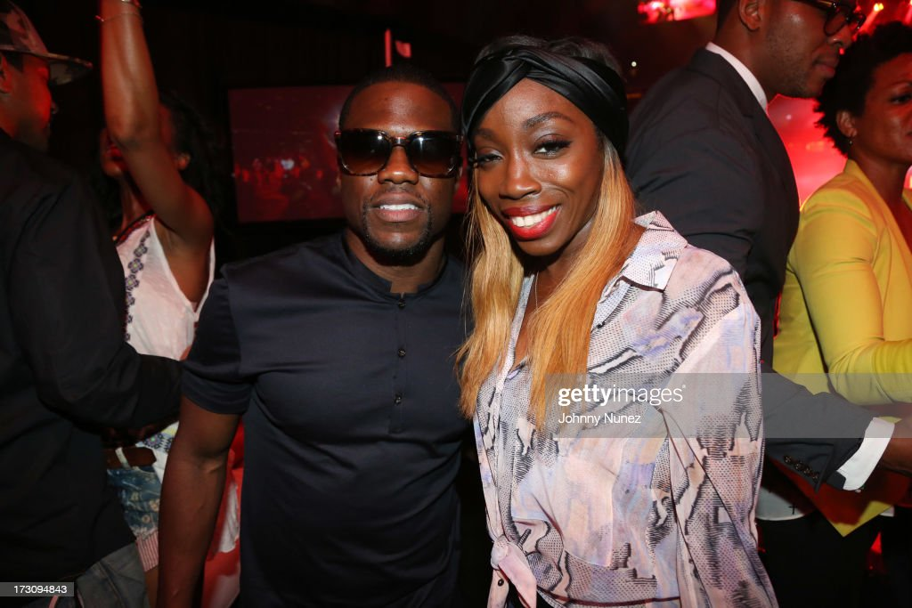 <a gi-track='captionPersonalityLinkClicked' href=/galleries/search?phrase=Kevin+Hart+-+Actor&family=editorial&specificpeople=4538838 ng-click='$event.stopPropagation()'>Kevin Hart</a> and <a gi-track='captionPersonalityLinkClicked' href=/galleries/search?phrase=Estelle+-+Singer&family=editorial&specificpeople=206205 ng-click='$event.stopPropagation()'>Estelle</a> attend the 2013 Essence Festival at the Mercedes-Benz Superdome on July 6, 2013 in New Orleans, Louisiana.